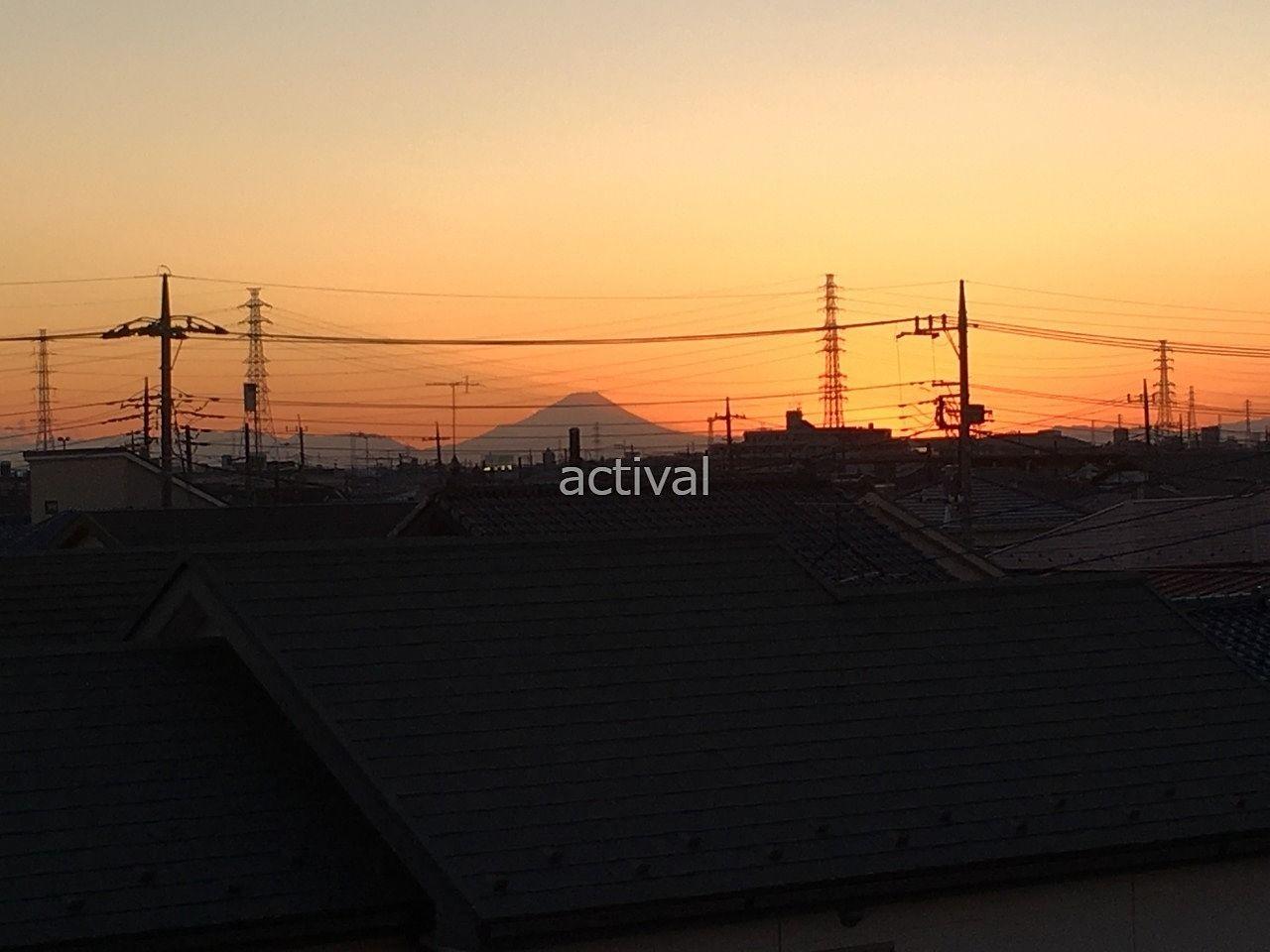 越谷市赤山町にあるア・ス・ヴェルデから富士山が見えました!!