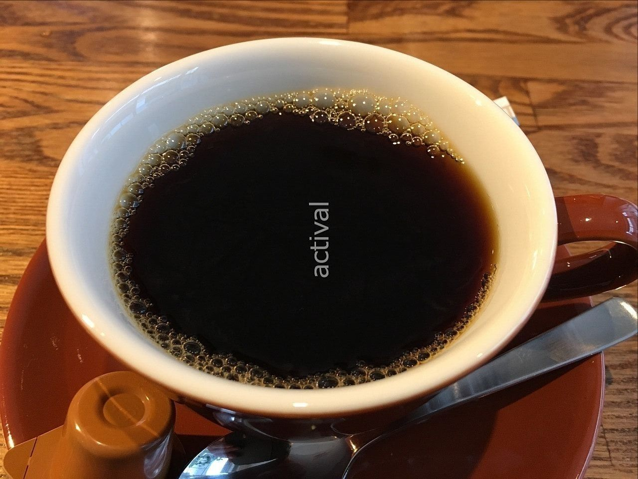 越谷市赤山町にあるカフェ「Cafe huit(カフェユイット)」さんのブレンドコーヒーです!