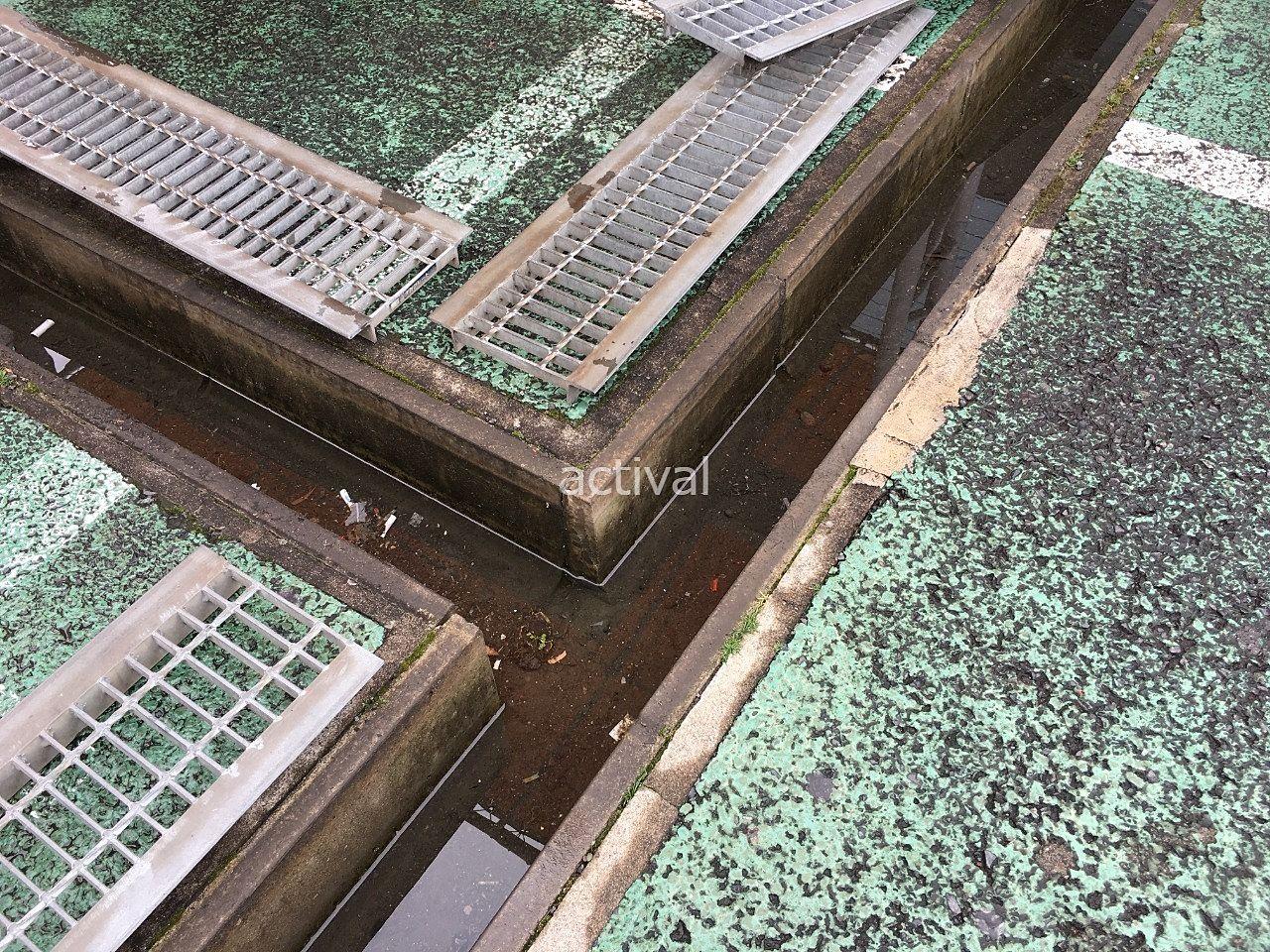 ゴミが入って汚れていた排水溝です!!
