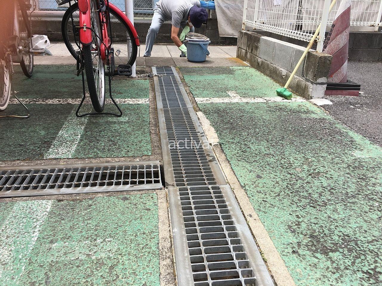 ア・ス・ヴェルデⅡにある排水溝を清掃しました!