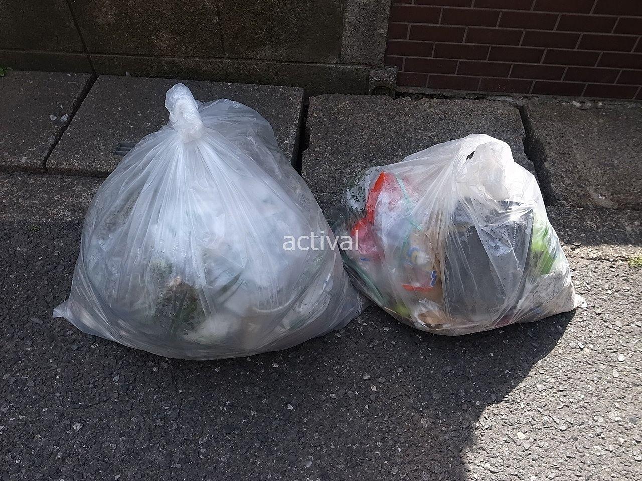 先日月極駐車場のゴミ拾いで出たゴミです。