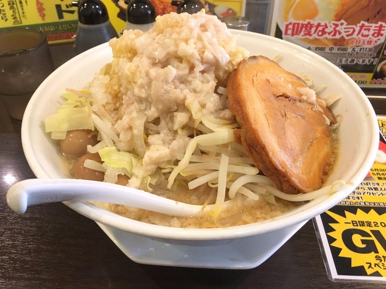 北越谷のガツ盛りラーメンみちる屋・豚玉みちるめん!!