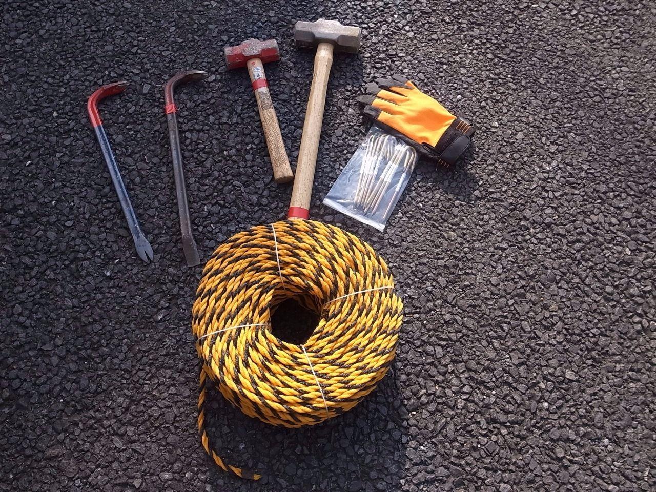 ロープ張り替え作業に必要な道具です!