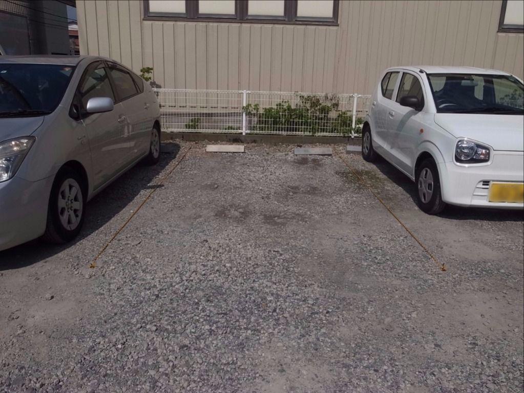 月極駐車場のロープ張り替え作業!②