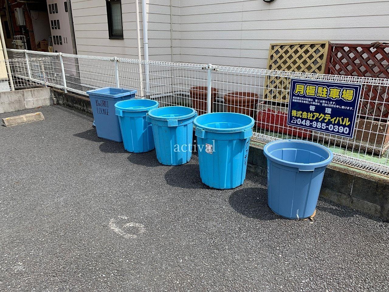 ア・ス・ヴェルデⅡのテナントさん専用ゴミ捨て場にあるポリバケツを掃除しました!!