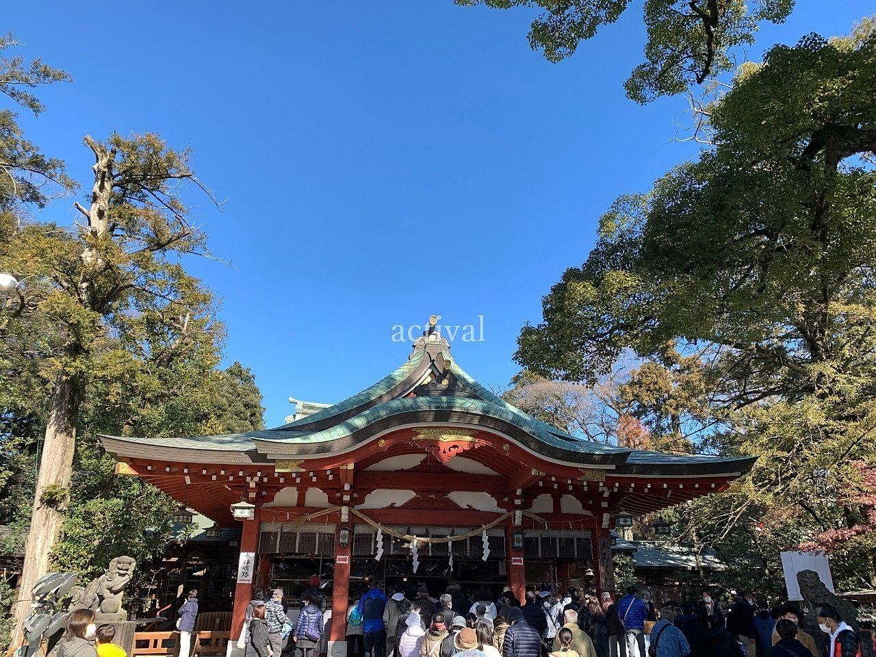 地元越谷の久伊豆神社です。