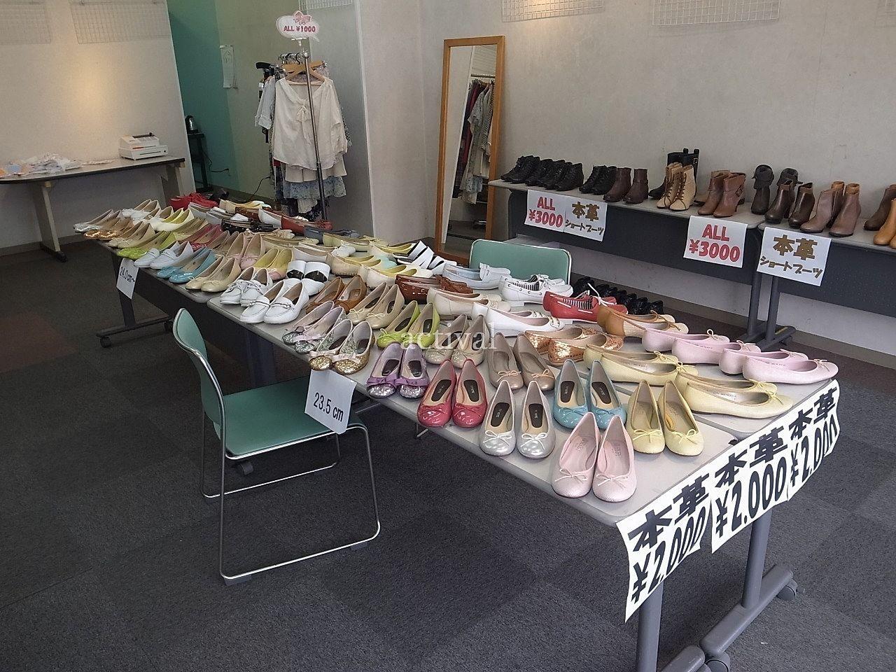 ア・ス・ヴェルデ「週貸店舗」での婦人靴販売です。