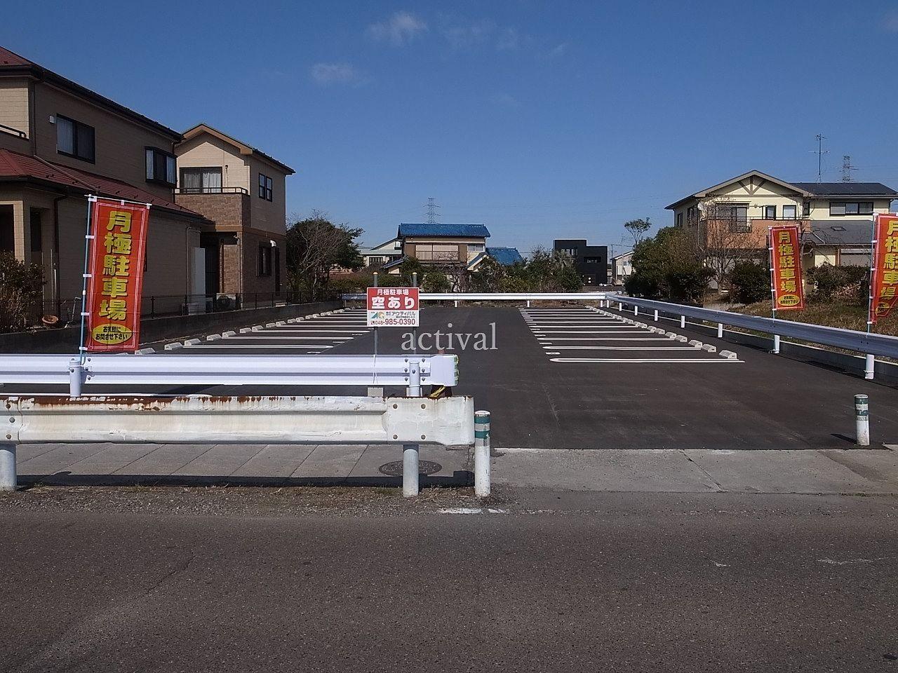越谷市川柳町3丁目にある月極駐車場の川柳町第1駐車場写真です。