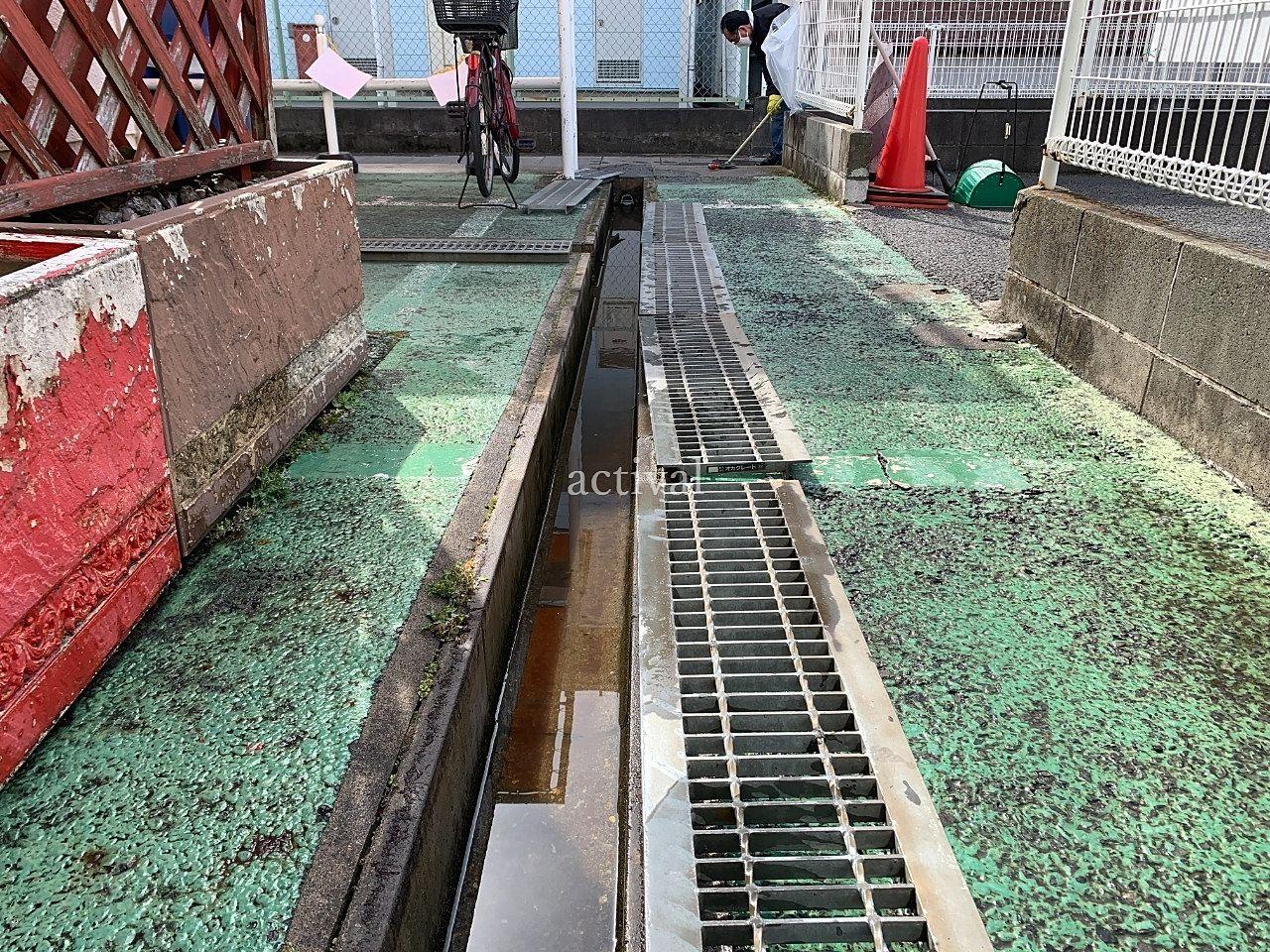 ア・ス・ヴェルデⅡにある排水溝掃除をしました。