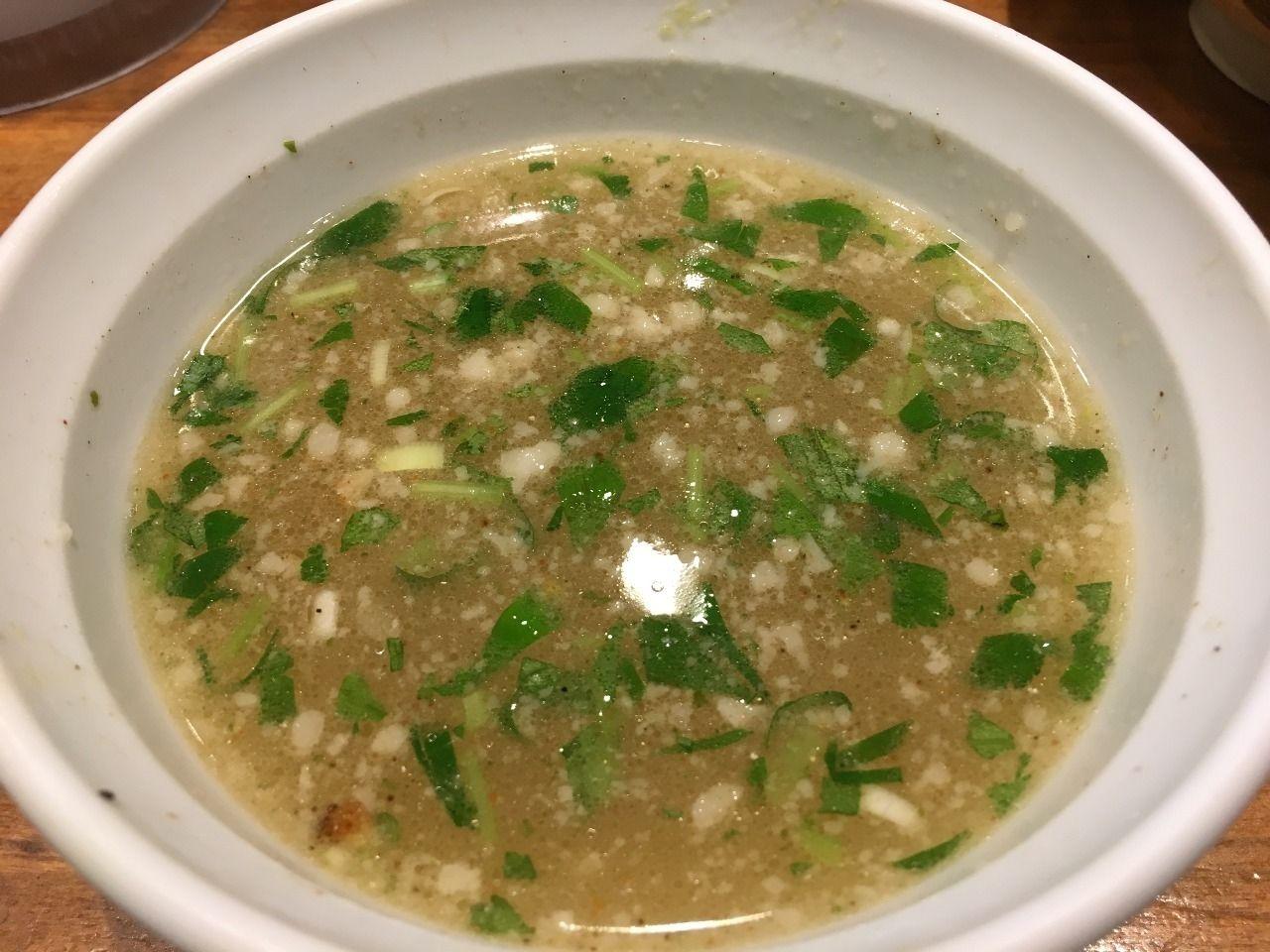 ミツバが入ったスープ割です!!