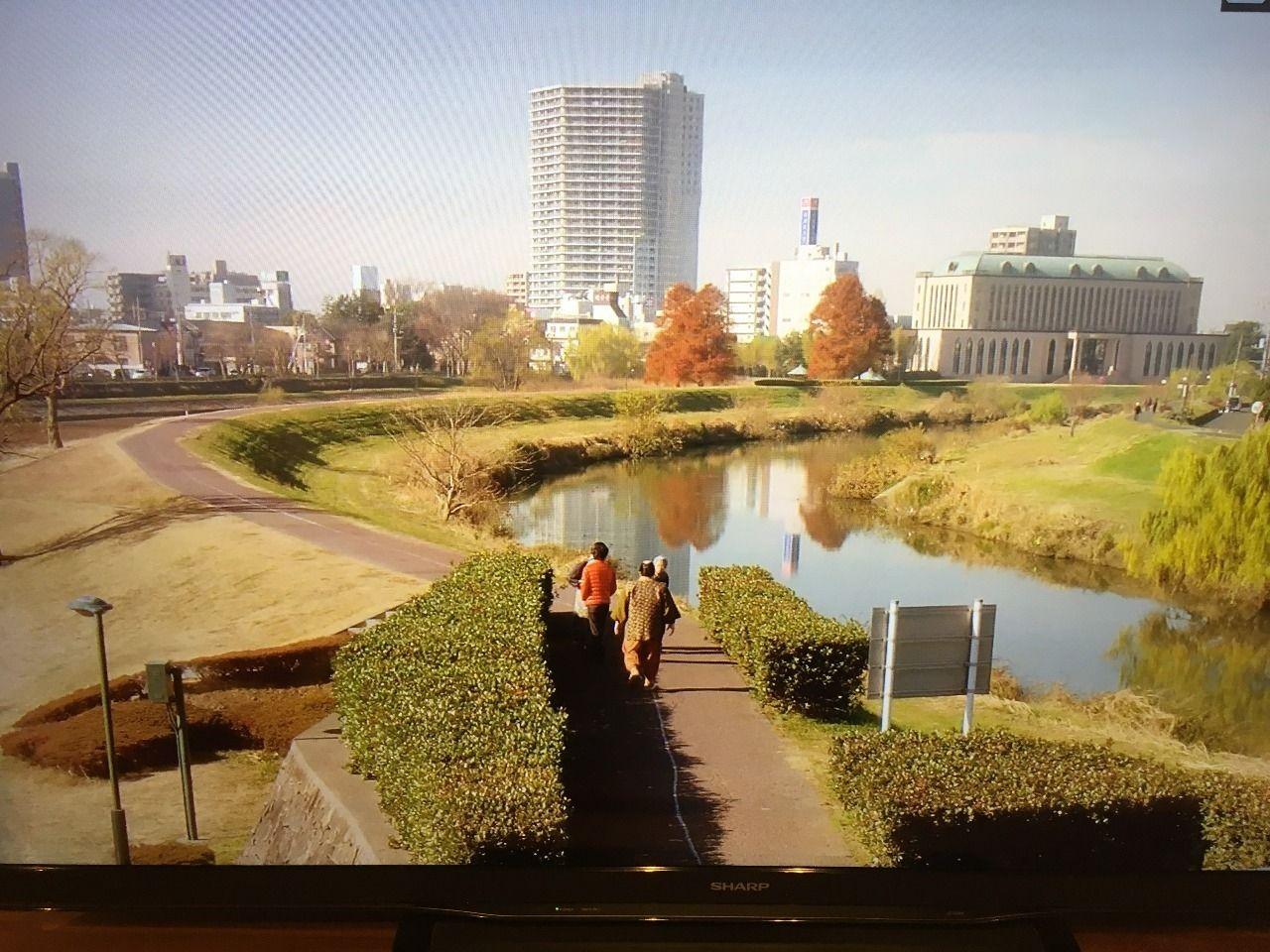 元荒川から越谷市街地を映しています!!