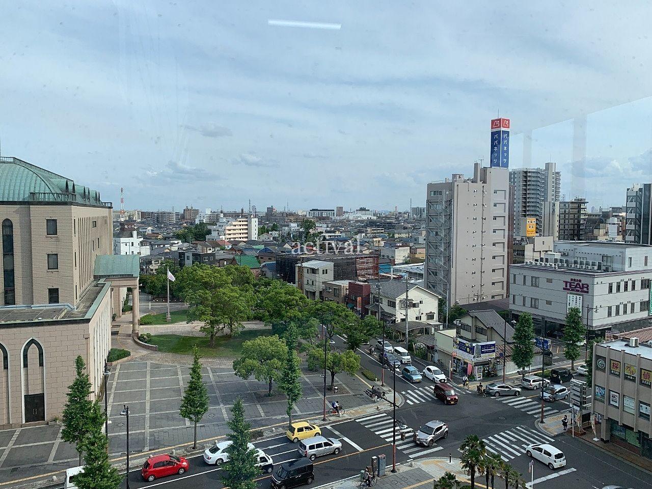 越谷市役所の新庁舎6階からの眺めです。