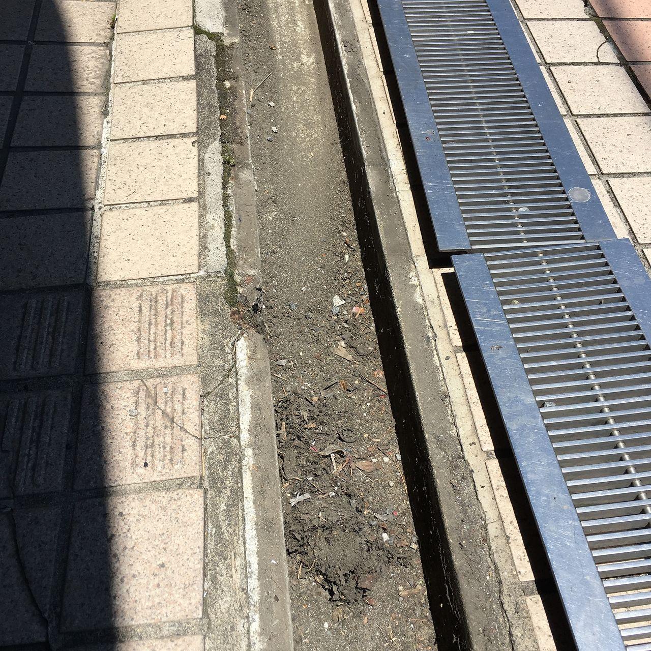ア・ス・ヴェルデⅢの排水溝に溜まったゴミです!!