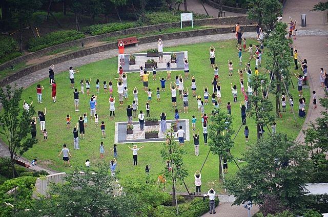 越谷市制60周年記念 夏期巡回ラジオ体操・みんなの体操会